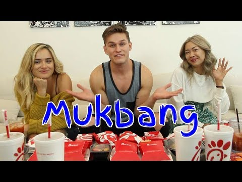 Mukbang with my Best Friend's Ex-Girlfriends |Ft Chachi Gonzales & KimAwayWithMe