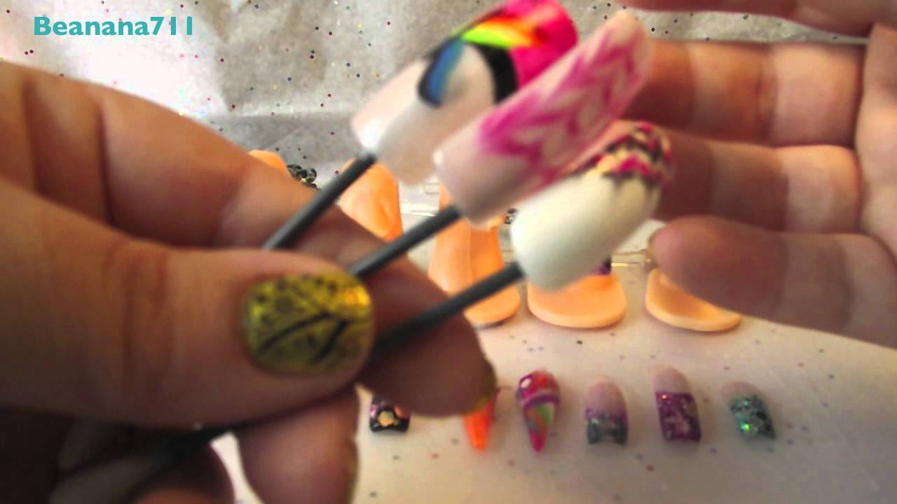 Practice Fingers & what I use to practice Nail Art - YouTube