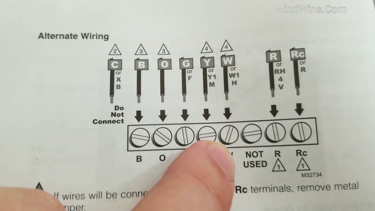 Honeywell Thermostat Wiring Diagram Rth221b1021 A Data 1 Wire How To Connect Week Programmable Home