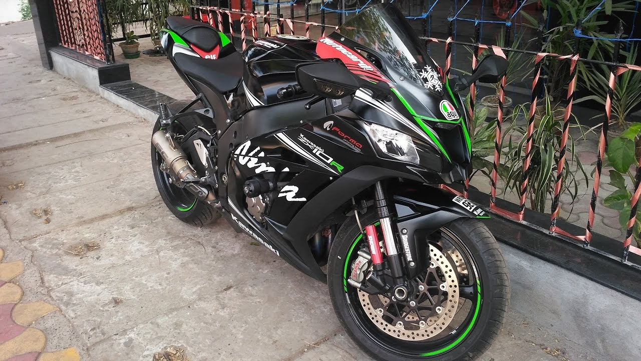 kawasaki zx10r 2017 winter edition(1 of 1) with sc project crt