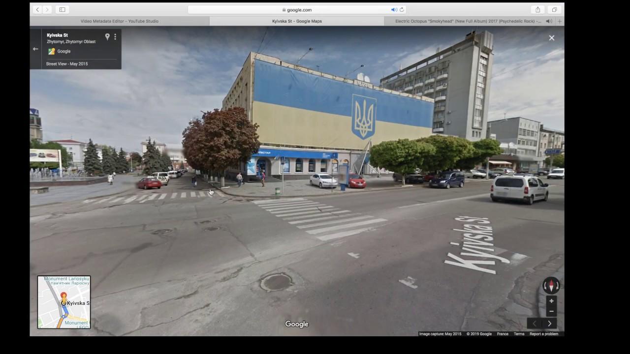Zhytomyr, Zhytomyr Ob. to Ternopil, Ternopil Ob. Ukraine – Google stre
