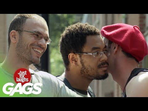 youtube filmek - The Man that Loves Kissing Strangers - Just For Laughs Gags