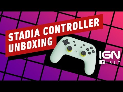 Google Stadia Controller Unboxing - IGN First