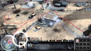 COH2 : The Western Front Armies 2v2 Multiplayer Gameplay - Oberkommando West Tag Team Match 7