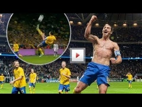 ZLATAN IBRAHIMOVIC INSANE BICYCLE GOAL!! - Sweden Vs ...