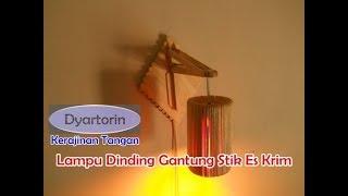 Cara Membuat Lampu Dinding Gantung Dari Stick Ice Cream