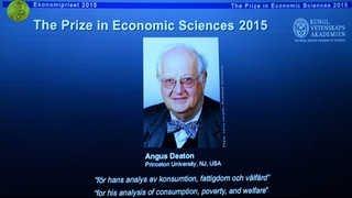 노벨경제학상에 영국 미시경제학자 앵거스 디턴