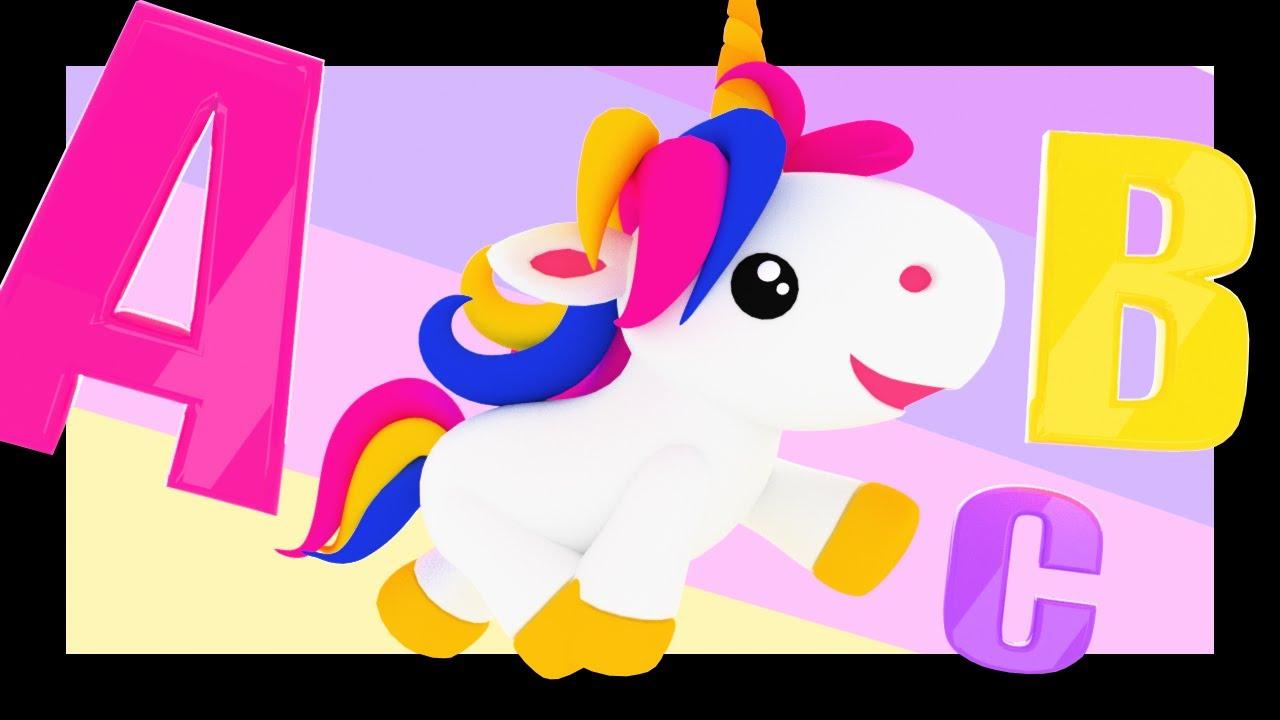Comptines avec les princesses et les licornes pour apprendre l'alphabet, les couleurs, les chiffres