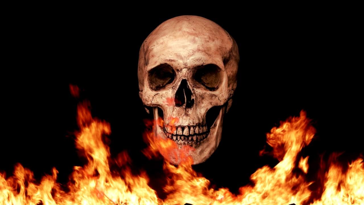 Fondo De Calavera Y Fuego Youtube