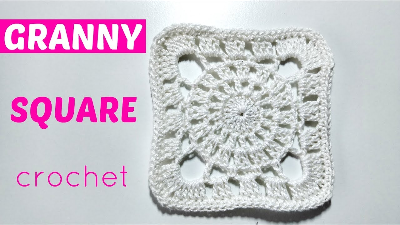 cuadrado crochet blanco - YouTube