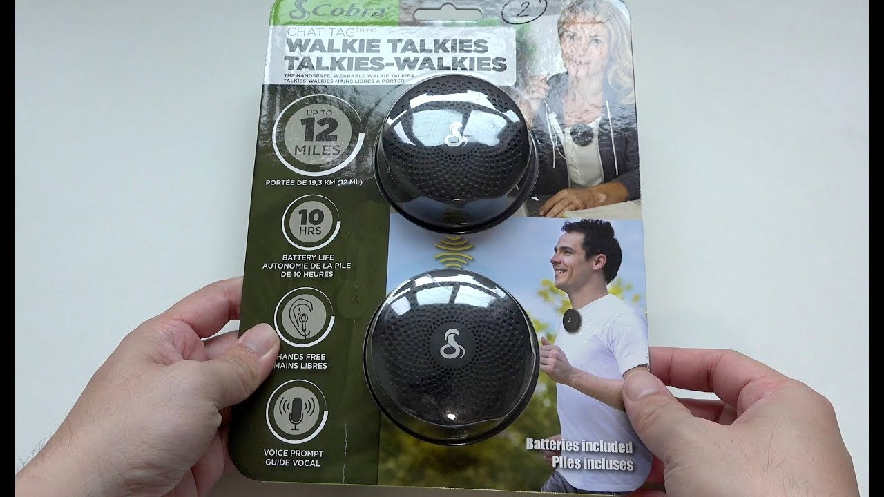 Cobra Chat Tag Walkie-Talkie Unboxing
