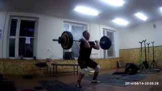 Тяжелая атлетика - толчок 128 кг.