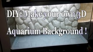 Diy 3d Aquarium Background - 80 Gallon Aquarium