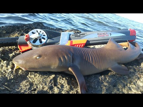 Rocket Fishing Rod Catches SHARK in Ocean | Monster Mike