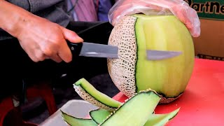 26년간 멜론 자르는 아저씨 #shorts - Melon Cutting Skill / Korean Street Food