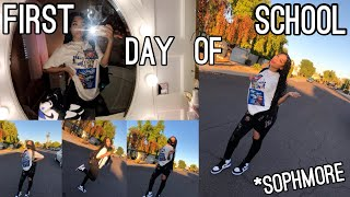 First Day Of School Grwm + Vlog (sophmore) *in person
