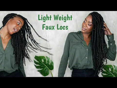 Easy Way To Do Natural Looking Faux Locs and Keep Your Edges 😂