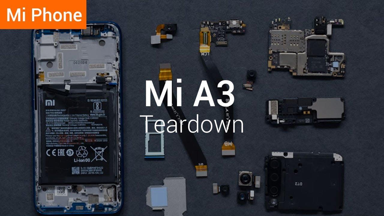 Xiaomi posts Mi A3 teardown video that rushes past the