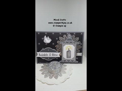 Seasonal Lanterns Christmas card SU