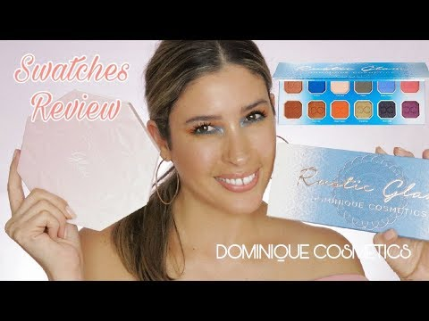 RUSTIC GLAM EYESHADOW PALETTE & PRISMA GLOW HIGHLIGHTERS DOMINIQUE COSMETICS | Review Swatches thumbnail