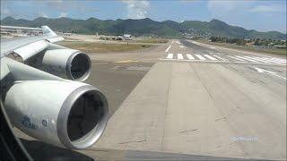 Mega Power KLM 747 Take off St Maarten