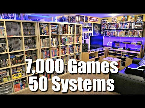 GAME ROOM TOUR - 7,000 Games + 50 Systems - METAL JESUS ROCK