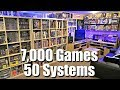GAME ROOM TOUR - 7,000 Games + 50 Systems - METAL JESUS ROCKS