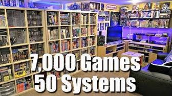 GAME ROOM TOUR - 7,000 Games + 50 Systems - METAL JESUS ROCKS