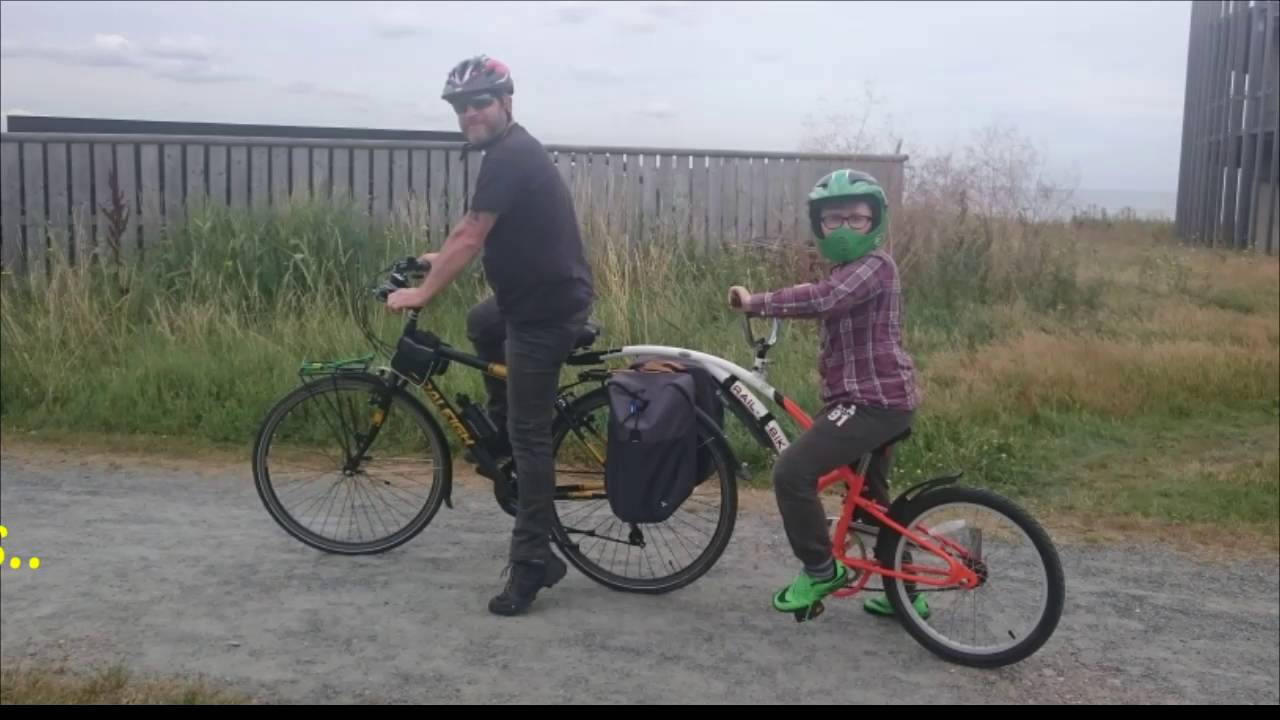 c65850da84b Our new tag-along bike and family adventure - YouTube