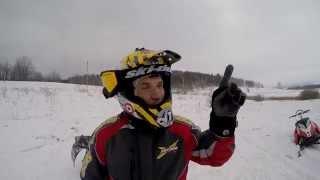 обучение езде на снегоходе в горах Бундокинг 2 гр. инструктор Иволин, Summit, Polaris, Arctic Cat(11-12 февраля 2015 года Клуб