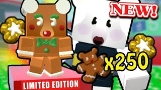 *New* LIMITED EDITION Gingerbread Cub + STAR TREATS! (rip my bears) | Roblox Bee Swarm