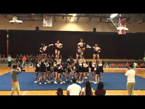 South Miami senior high school pep rally 2015. Cheerleaders