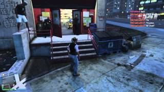 [RekansTV/咪咪非常正] Grand Theft Auto V/GTA V/俠盜獵車手 五 警察 vs 槍店老闆