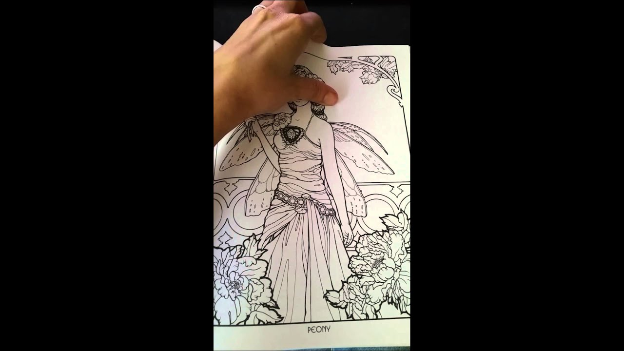 Floral Fairies Coloring Book - YouTube