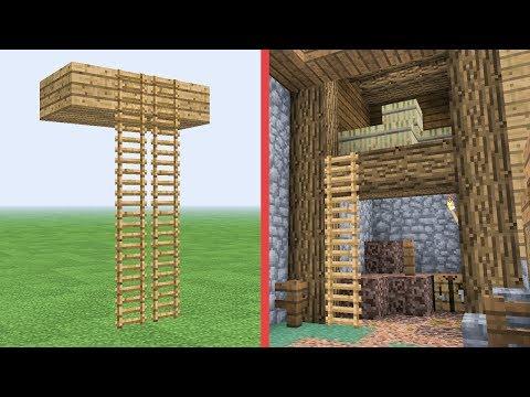 Floating Ladders! :: Minecraft Building w/ BdoubleO #455