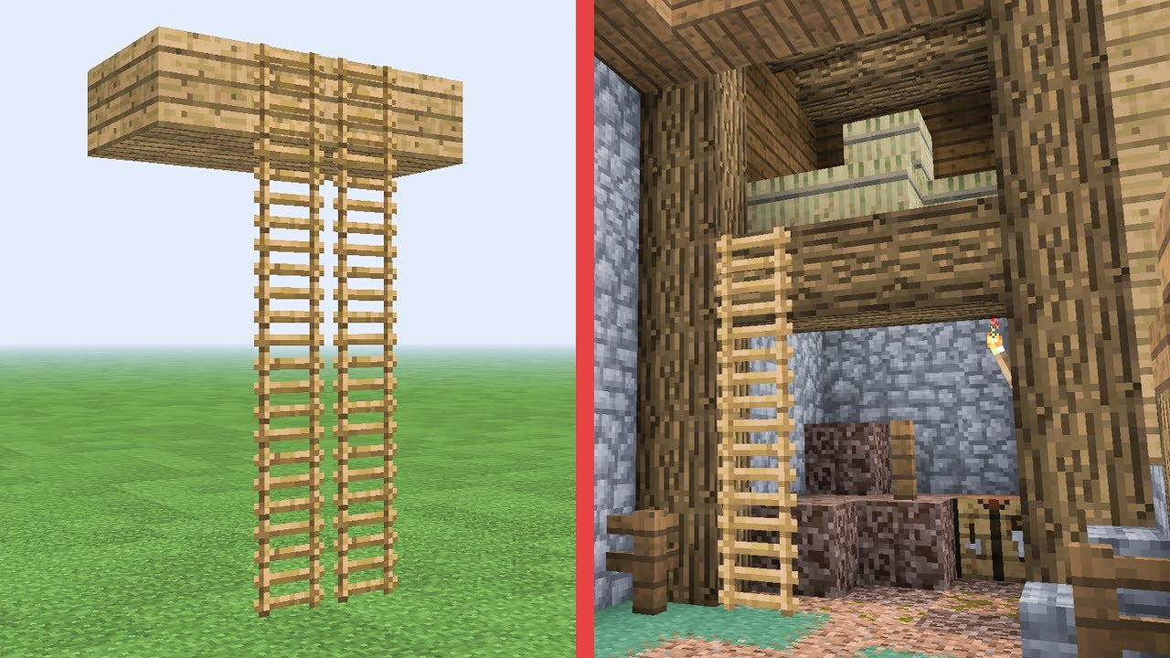 minecraft how to make floating ladders