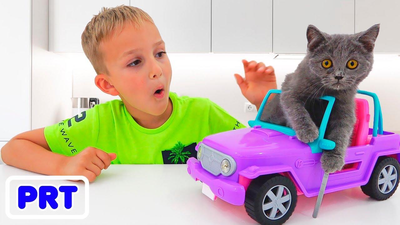 História engraçada de gatinhos com Vlad e Niki