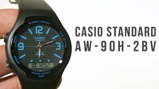 casio standard aw 90h 2bv unboxing