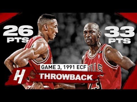"When PRIME Duo Michael Jordan & Scottie Pippen DESTROYED Pistons ""Bad Boys"" | Game 3, 1991 Playoffs"