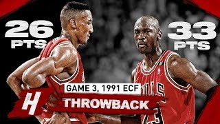 "When PRIME Duo Michael Jordan & Scottie Pippen DESTROYED Pistons ""Bad Boys"" 