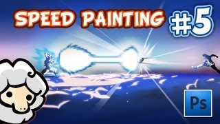 SPEEDPAINTING 5 - Goku vs Mark Lenders