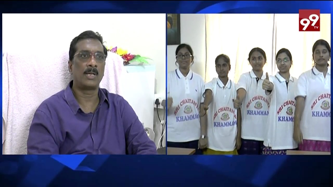 Sri Chaitanya college top Intermediate ranks in khammam ||99tv||