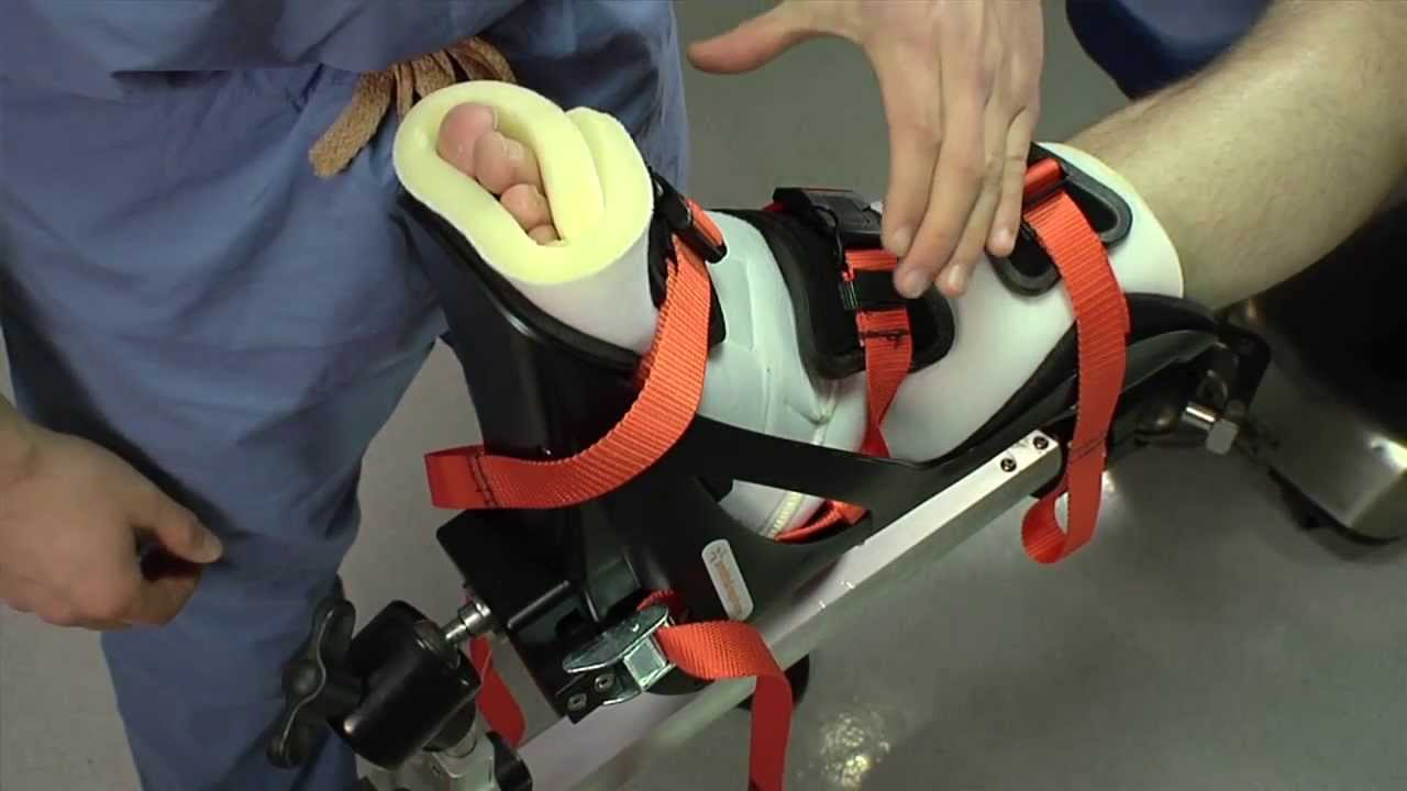 Active Heel Traction Boot Preparation And Patient