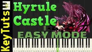 Learn To Play Hyrule Castle From Breath Of The Wild Easy Mode Piano Tutorial Synthesia Youtube