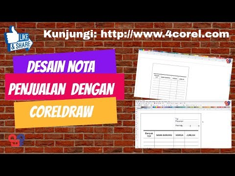 Desain Nota Pembelian Barang Dengan Corel Draw X7