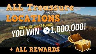 FORZA Horizon 4 : Fortune island : All Treasure Locations : Easy Credits