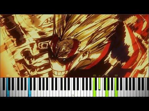 "Boku no Hero Academia S3 Ep. 11 OST - ""UNITED STATES OF SMASH!"" (Synthesia Piano Tutorial)"