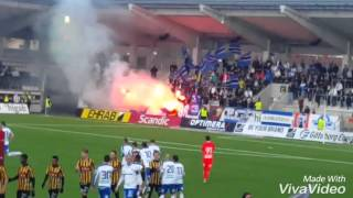 Peking Ultras use pyro at Bravida Arena (BK Häcken - IFK Norrköping)