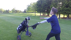 Taking advantage of the great weather at Balmoral Golf Club, Belfast