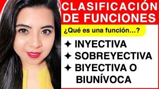 Funciones (INYECTIVA, SUPRAYECTIVA Y BIYECTIVA)      Functions (INJECTION, SURJECTION and BIJECTION)
